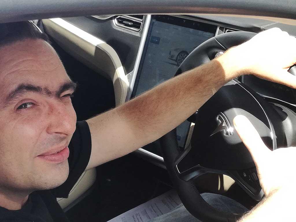 driving Telsa Mauritius