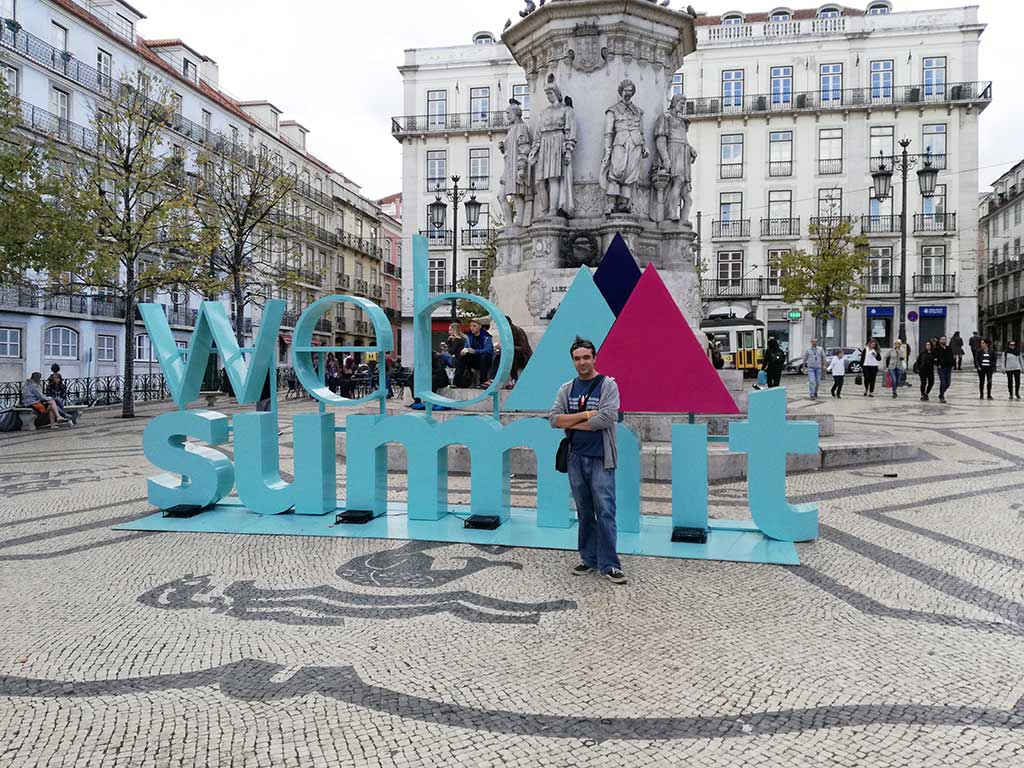 Web summit Lisbon monument