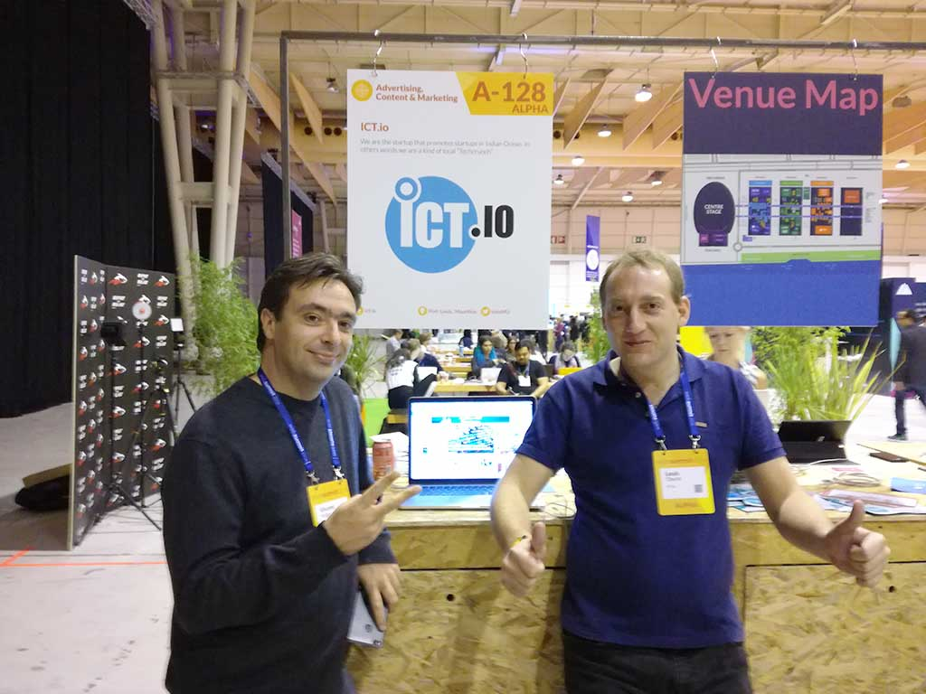 Web summit ICT.io stand