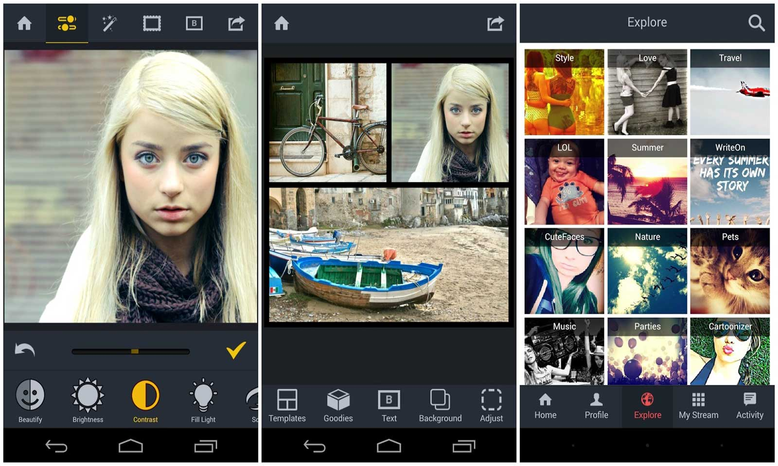 meilleures applications de retouche photo pour android