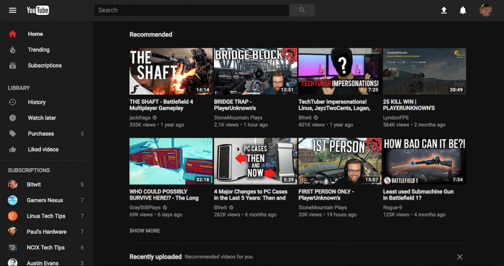 Youtube black