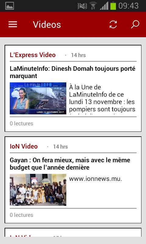 Vidéos en ligne sur K-NEWS