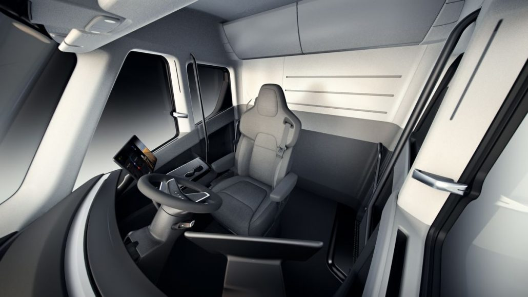 tesla truck interior view