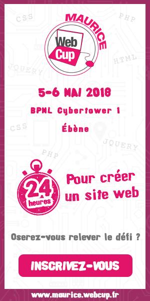 WebCup Maurice : inscris-toi et crée ton site en 24 heures chrono !