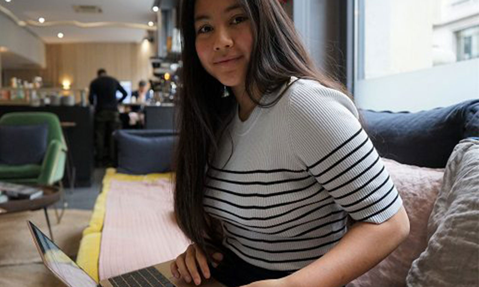Matina Razafimahefa, fondatrice de la start-up Sayna