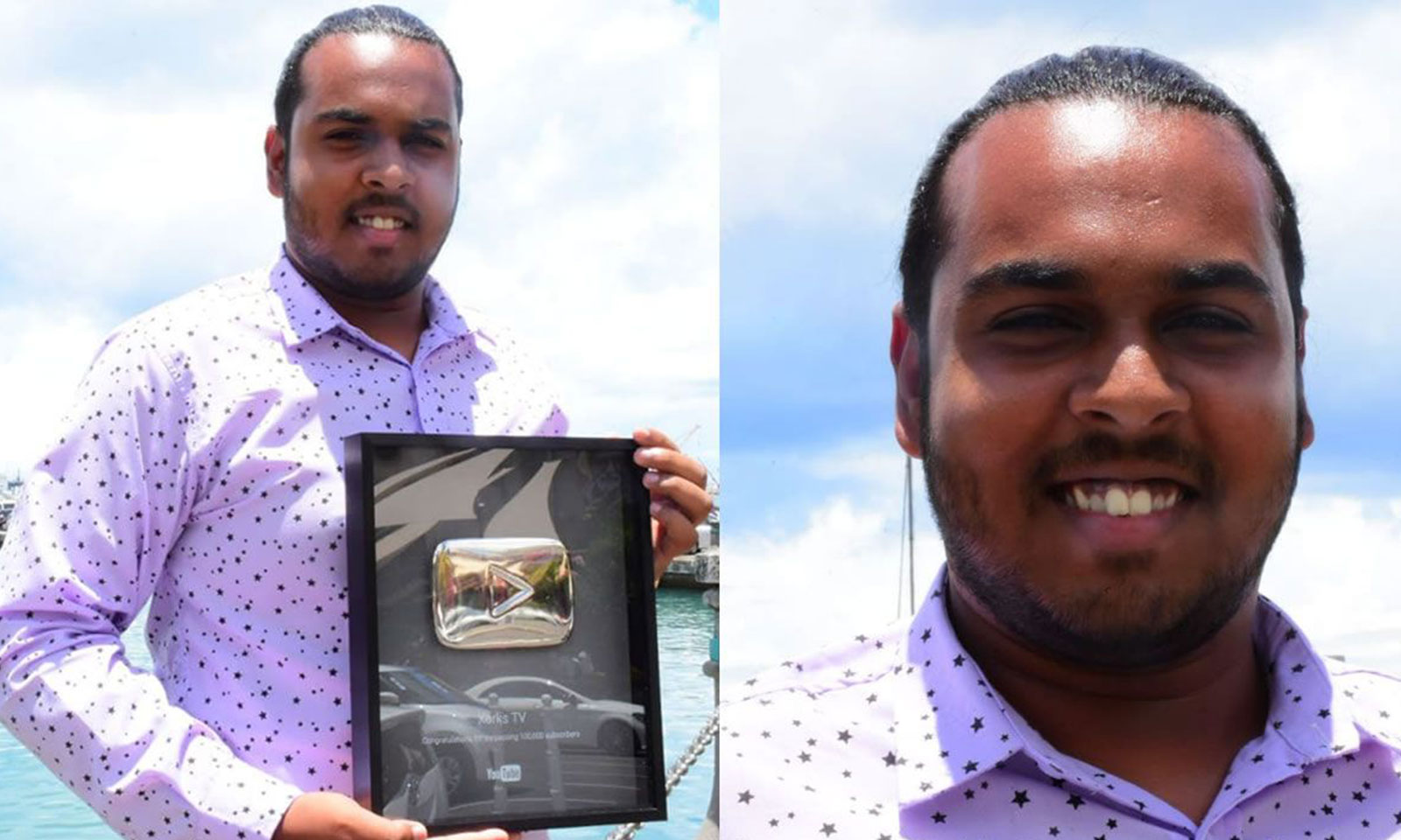 Un YouTube Silver Play Button pour Cevin Luchun