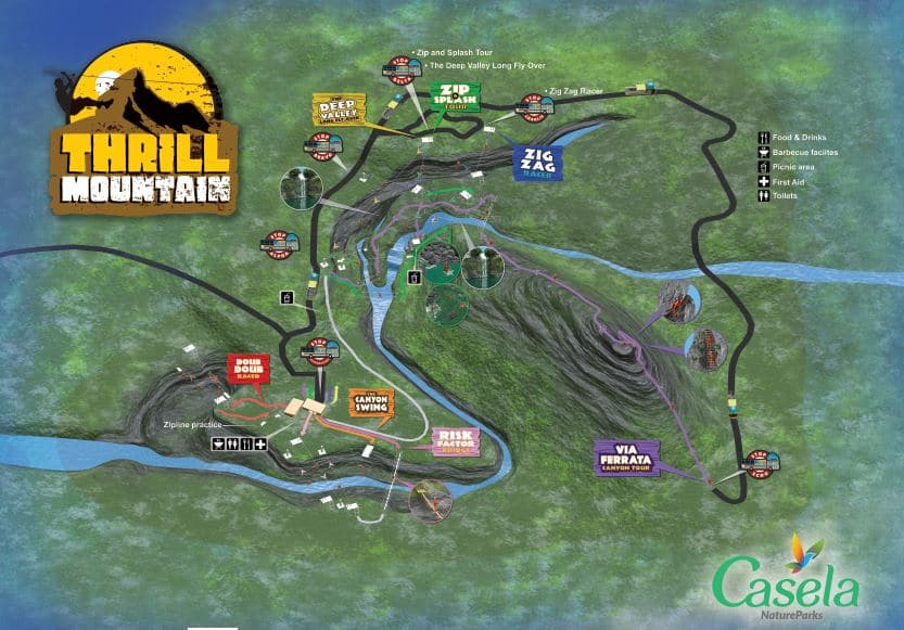 Thrill Mountain - carte