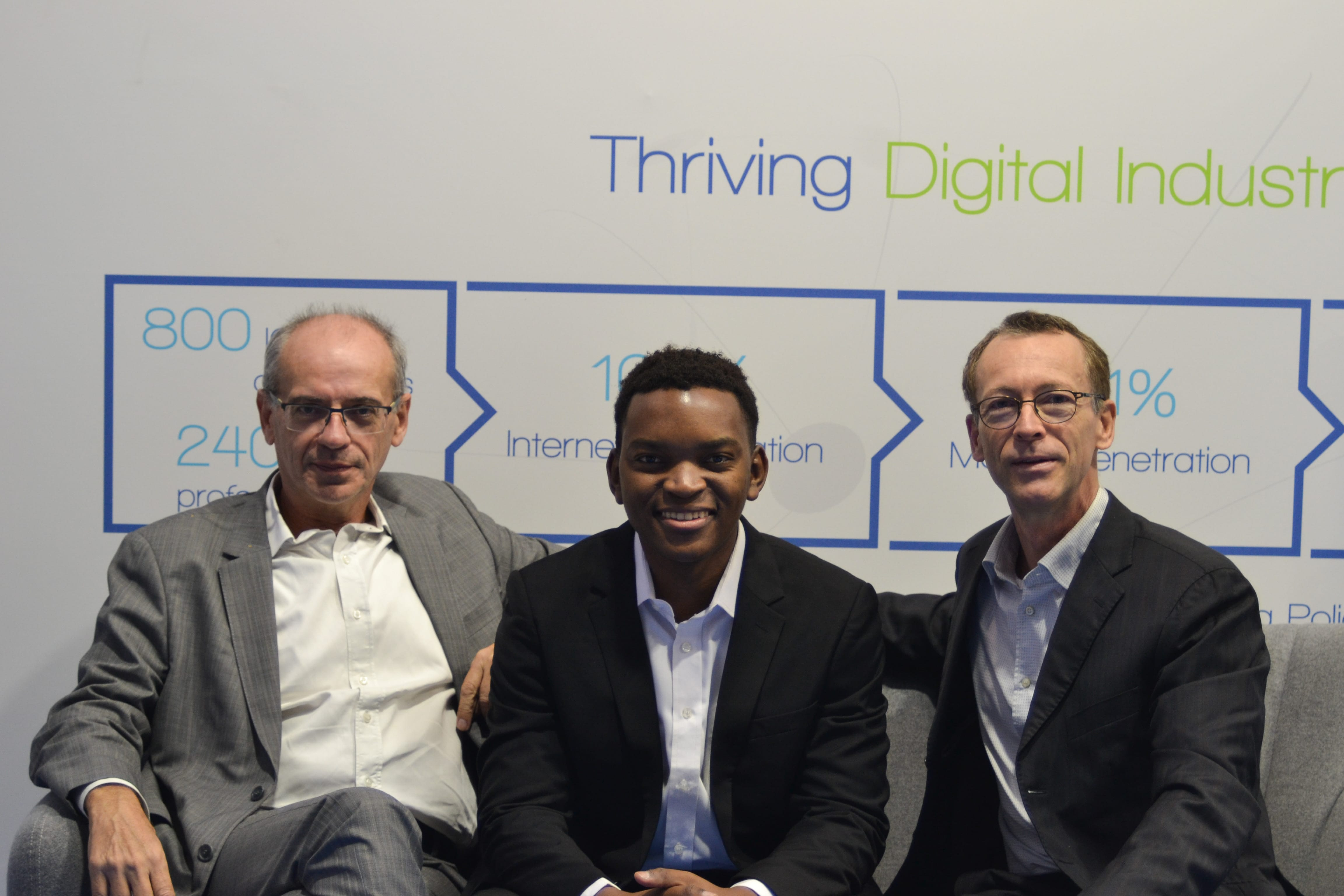 With Denis Lacour (left) and Michel Cordani (right), our Advisors at VivaTech 2019