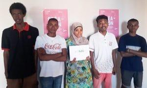 Créathon 2019 : l'équipe lauréate malgache LONJO