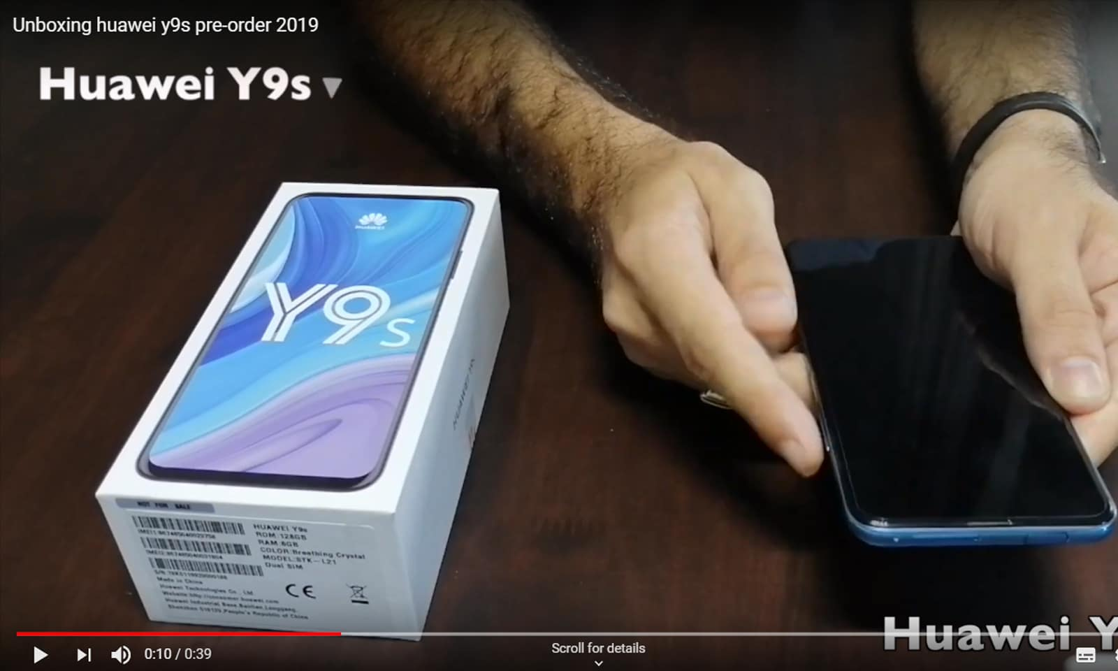 Huawei Y9S Unboxing