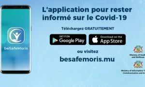 beSafeMoris, l'application mobile pour suivre les infos sur le Covid-19