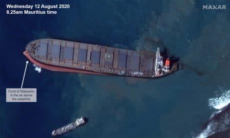 MV Wakashio, l'imagerie satellite