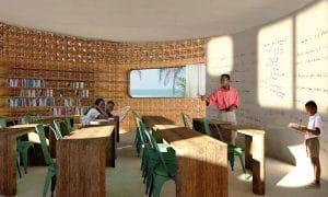 La toute première école imprimée en 3D, dont le design comporte des panneaux solaires et une configuration de Ruche qui permet la fixation de plusieurs écoles, verra le jour à Madagascar.